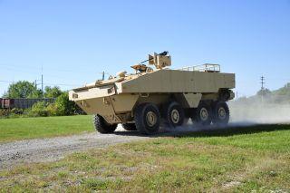 The amphibious combat vehicle.