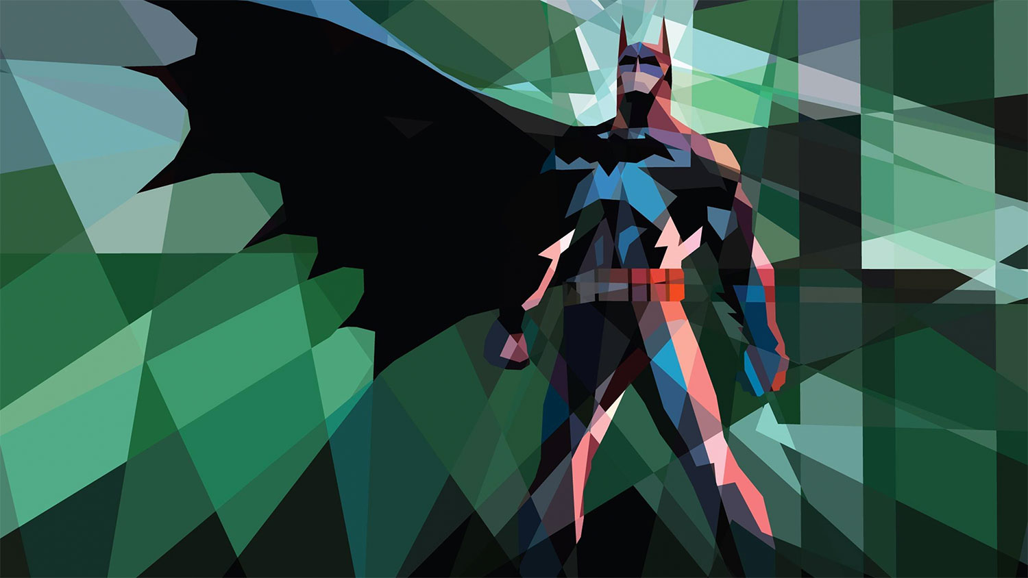 Polygonal Batman art