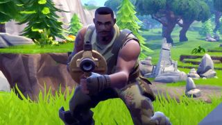 A Fortnite Battle Royale character holding a grenade launcher