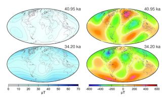 earth's magnetic field now and in times past