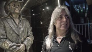 Mikkey Dee and Lemmy's statue