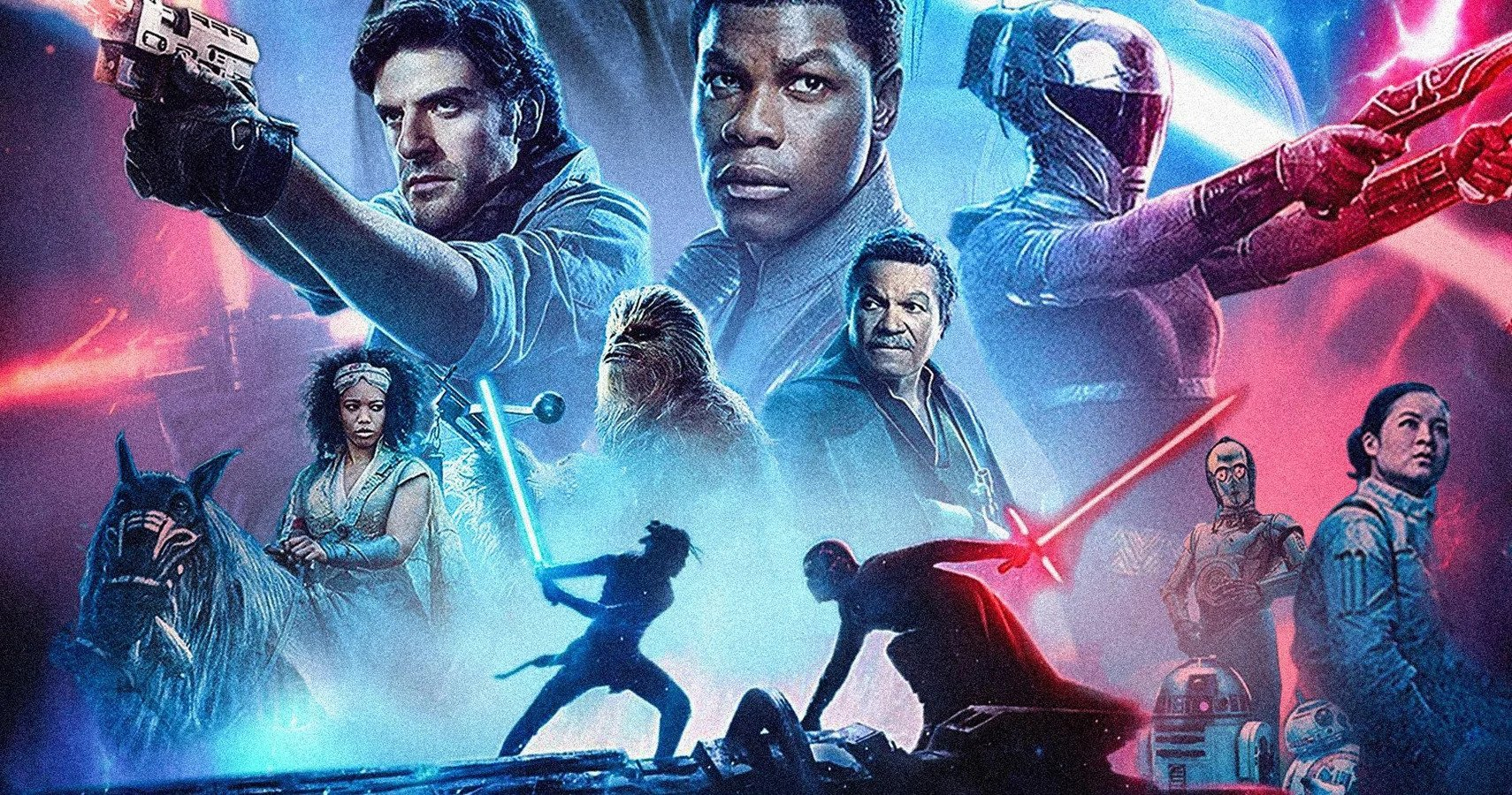Star Wars: The Rise of Skywalker various characters on the poster