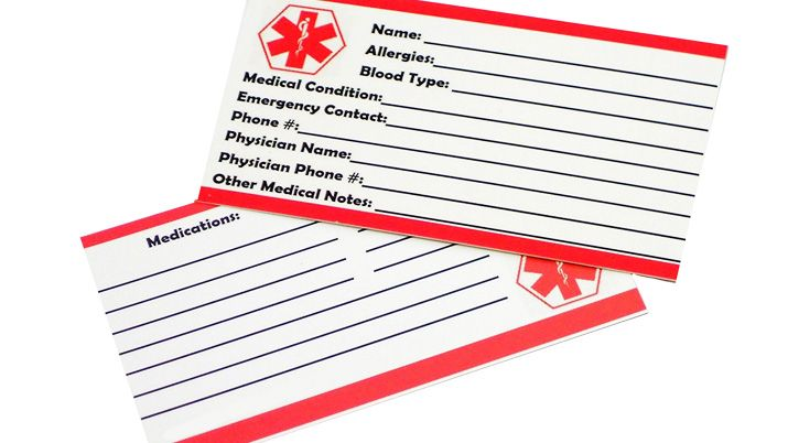 Free Printable Medical Id Wallet Cards Top Ten Reviews