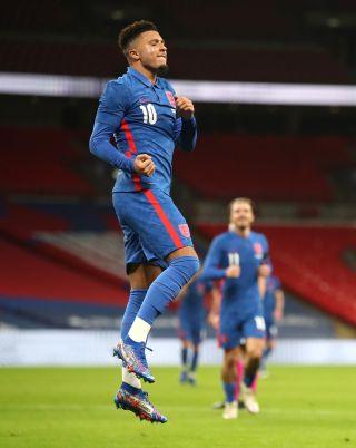 Jadon Sancho scored his third England goal in Thursday's win over the Republic of Ireland.