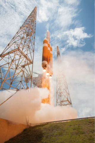 A United Launch Alliance Delta IV Heavy rocket launches into space carrying the classified NROL-37 satellite from Cape Canaveral Air Force Base in Florida on June 11, 2016. That launch was also mission for the U.S. National Reconnaissance Office.