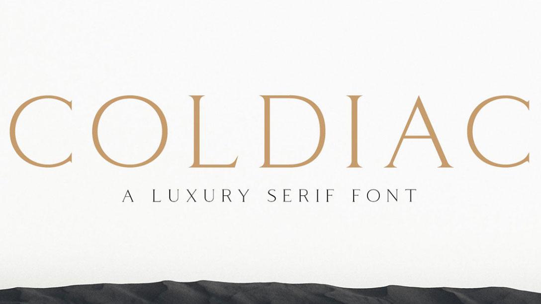 Coldiac free font
