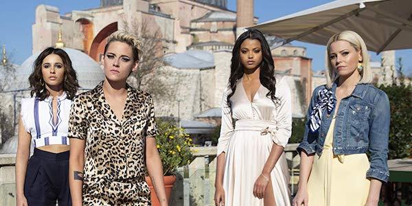 Naomi Scott, Kristen Stewart, Ella Balinska and Elizabeth Banks in Charlie's Angels