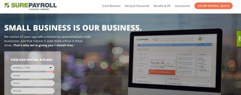 SurePayroll payroll management software