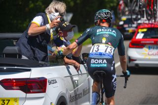 Tour de France 2021 - 108th Edition - 19th stage Mourenx - Libourne 207 km - 16/07/2021 - Doctor - Wilco Kelderman (NED - Bora - Hansgrohe) - photo Dario Belingheri/BettiniPhoto©2021