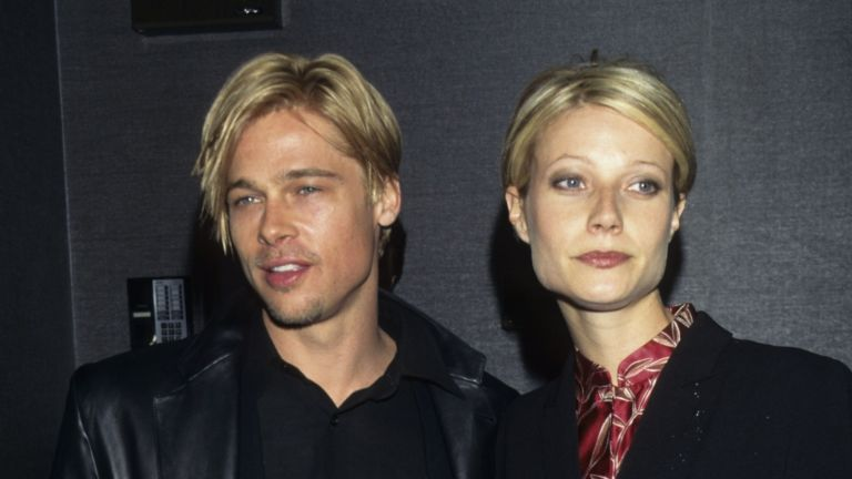 """Brad Pitt and Gwyneth Paltrow during """"The Devil's Own"""" Premiere at Cinema One in New York City, New York, United States. ("""