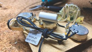 A high-spec wiring loom by Monty's Guitars