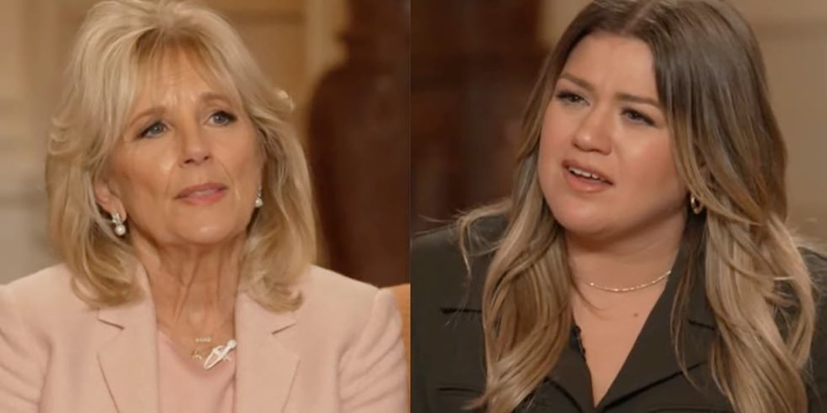 Jill Biden and Kelly Clarkson on The Kelly Clarkson Show