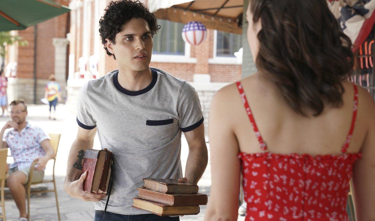 Legacies Season 2 2019 premiere Landon with books and Josie The CW