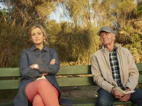 Rachel Carpani and Paul Hogan star in 'The Very Excellent Mr. Dundee.'