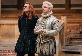 Pictured (L-R): David Tennant (Crowley), Michael Sheen (Aziraphale)