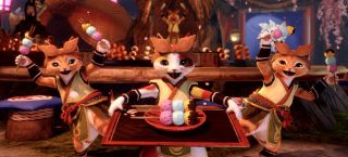 palicoes serving up a delicious feast in MH Rise.