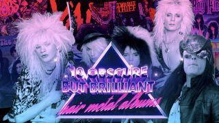 hair metal albums logo