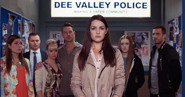 Sienna is questioned by the police in Hollyoaks.