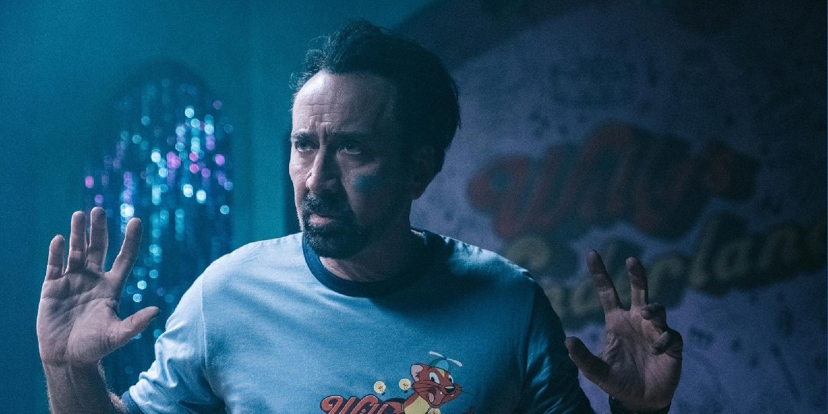 Nicolas Cage as The Janitor in Willy's Wonderland.