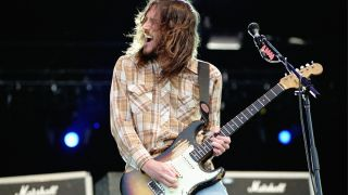 John Frusciante performs live with Red Hot Chili Peppers
