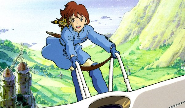 Nausicaa of the Valley of the Wind Nausicaa sailing on her aircraft