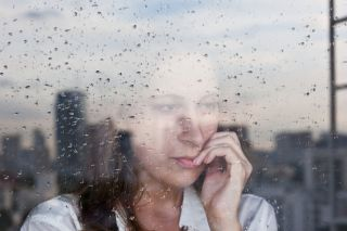Anxious woman, anxiety, stress