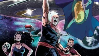 """The Mirror Universe breaks out into an all-out Mirror War in a new """"Star Trek: The Next Generation"""" yearlong event launching Sept. 8, 2021 from IDW Publishing."""