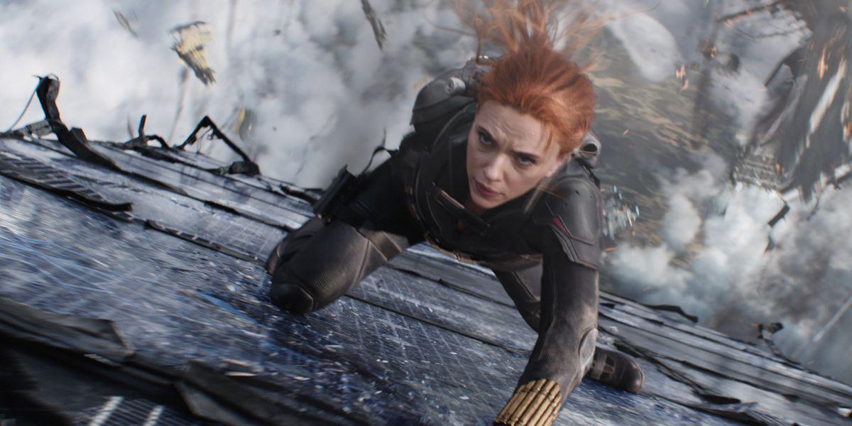 Scarlett Johansson as Natasha Romanoff in Black Widow.