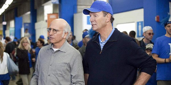 Larry David and Bob Einstein in Curb Your Enthusiasm on HBO