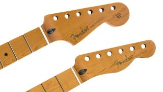 Fender roasted maple necks