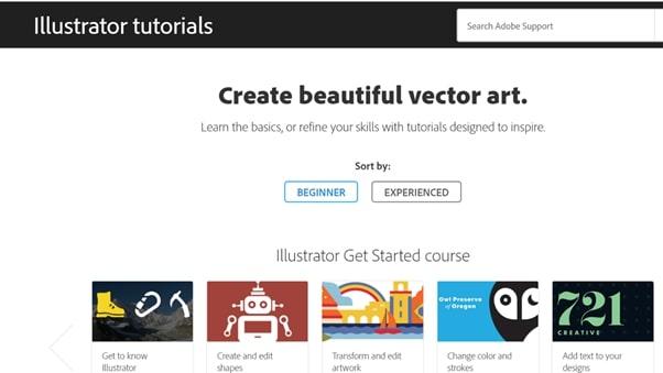 Téléchargez la page d'accueil pour Illustrator - Tutoriels Web Illustrator