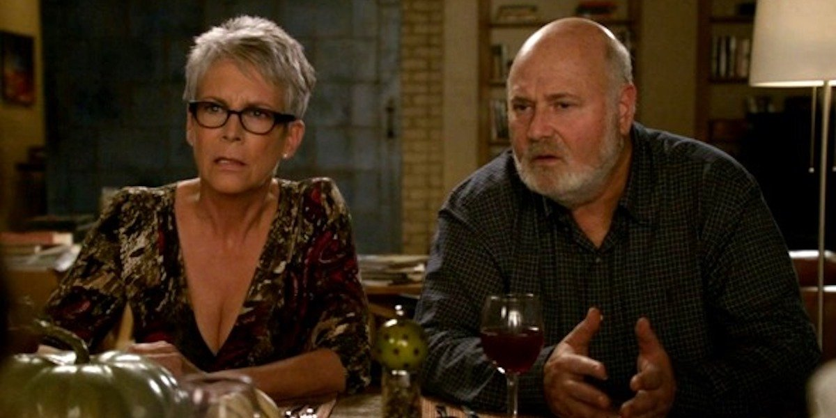 Jamie Lee Curtis and Rob Reiner as Jess' parent in New Girl
