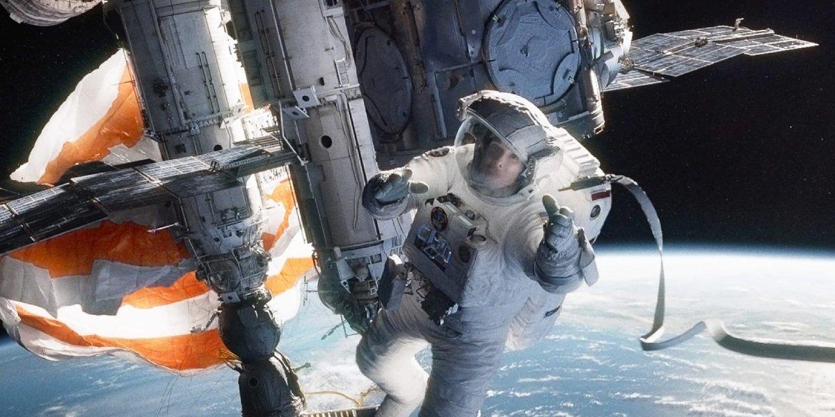 Sandra Bullock in Alfonso Curaron's Gravity
