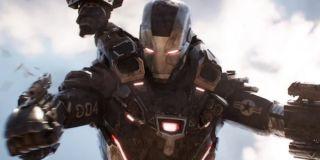 War Machine battling in Infinity War