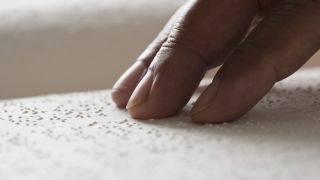 Reading a braille book