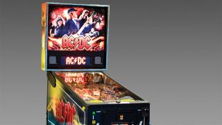 a press shot of an Ac/dc pinball machine