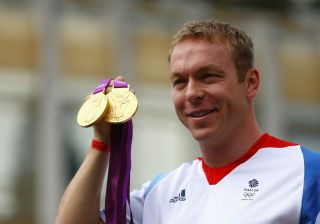 Chris Hoy at the London 2012 Olympic Games.