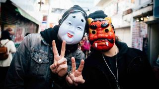Savage Messiah wearing masks in Japan