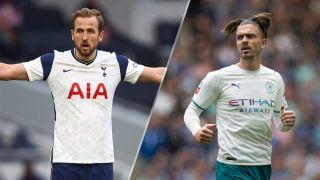 Tottenham Hotspur vs Manchester City live stream Premier League match: Harry Kane of Tottenham and Jack Grealish