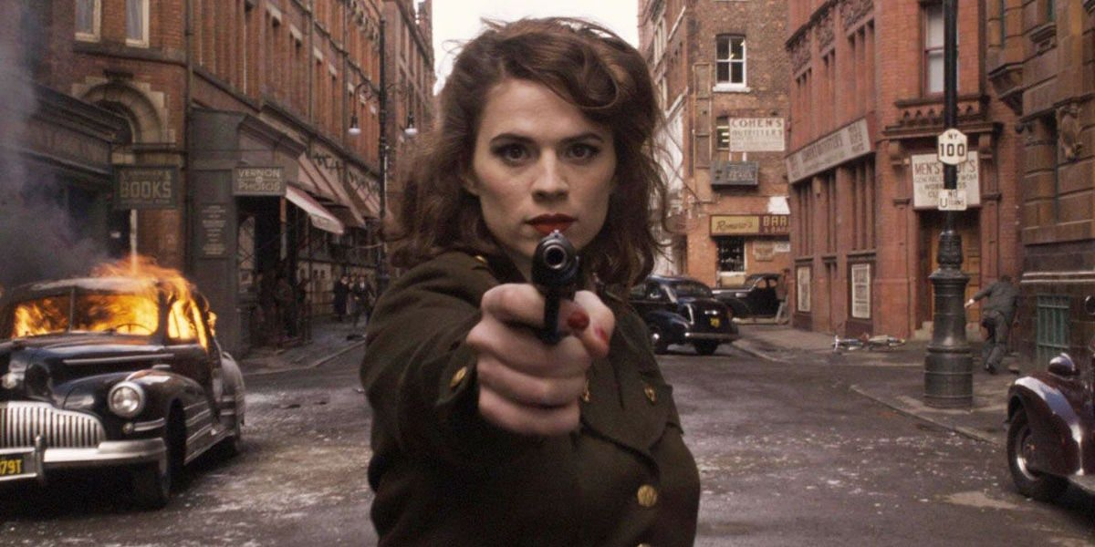 Hayley Atwell as Peggy Carter in Captain America: The First Avenger