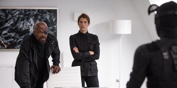 Nick Fury and Maria Hill in Spider-Man: Far From Home
