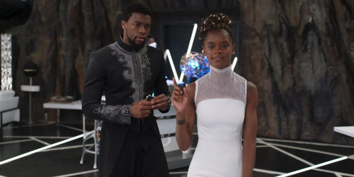 Chadwick Boseman, Letitia Wright - Black Panther