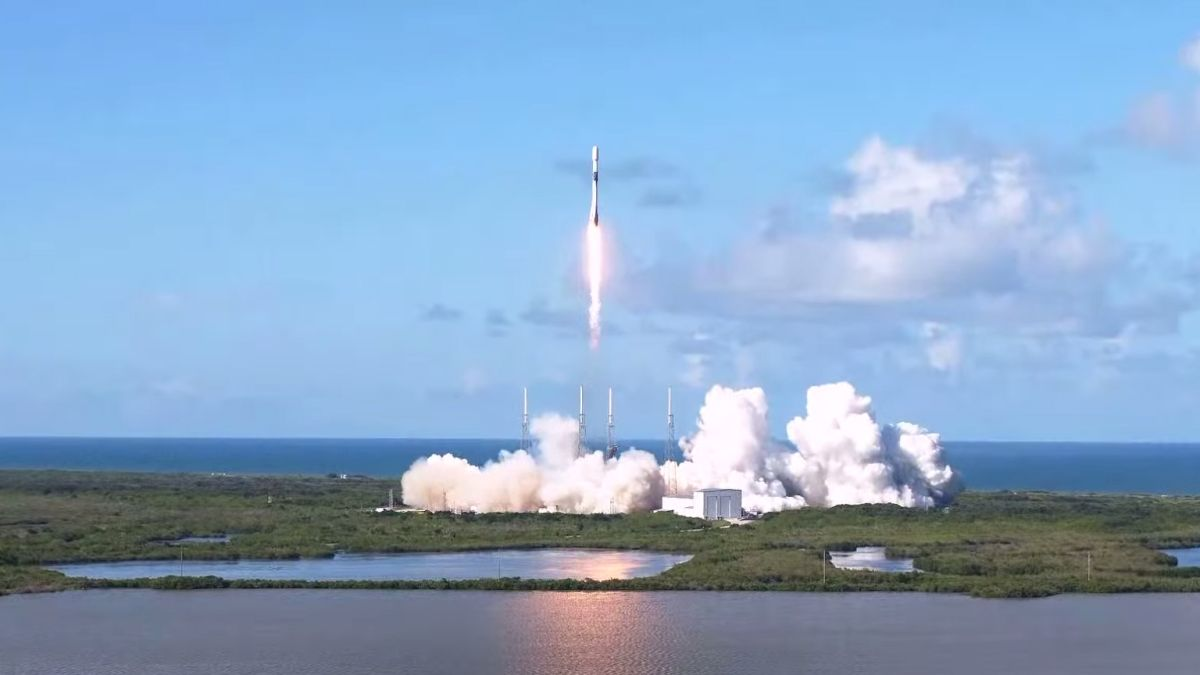 SpaceX launches South Korea's 1st military satellite, nails rocket landing at sea