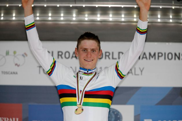 Matej Mohoric wins under-23 men's road race, World Championships 2013