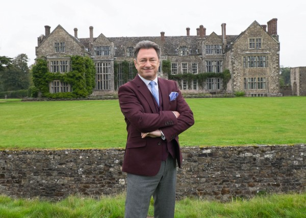 Alan Titchmarsh in front of Firle Palace for his new series, Masterpiece