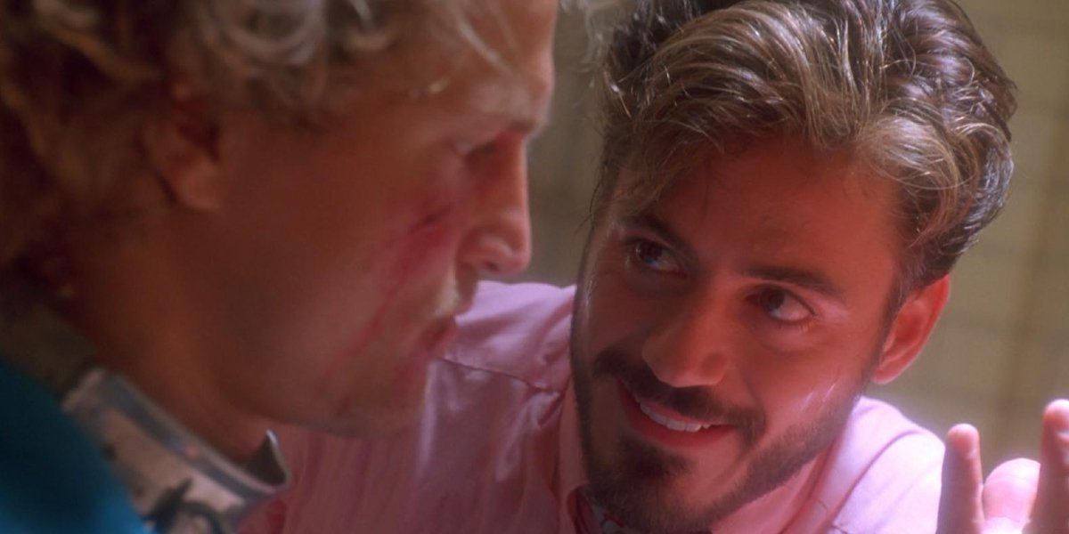 Woody Harrelson and Robert Downey Jr. in Natural Born Killers