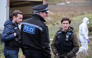 Line of Duty Sunday 14th shows Hastings with Steve and Kate at a crime scene