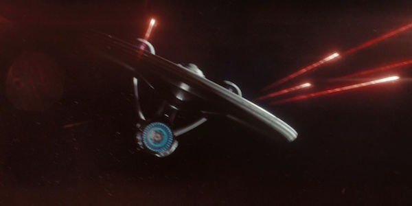 USS Enterprise firing phasers in 2009 Star Trek