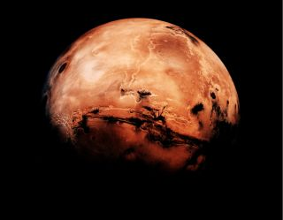 The arc of Mars' northern hemisphere