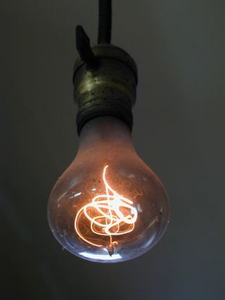 The 110-year-old Centennial Light bulb.